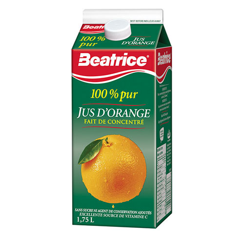 Image Jus d'orange Béatrice 1.75L